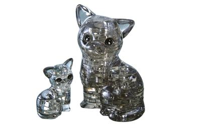 HCM-Kinzel-59127 3D Plexiglas Puzzle - Cat and Kitten