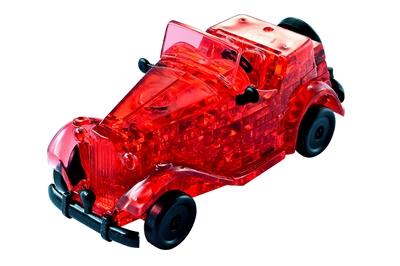 HCM-Kinzel-59135 3D Plexiglas Puzzle- red Oldtimer