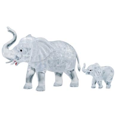 HCM-Kinzel-59176 3D Crystal Puzzle - Elephants