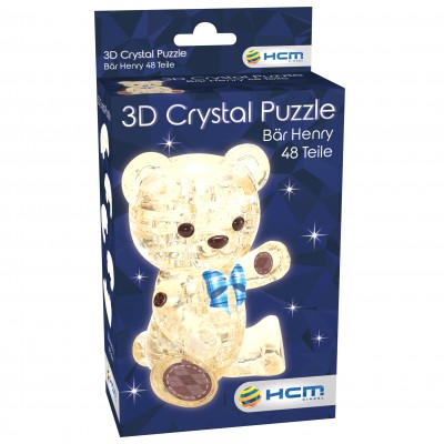 HCM-Kinzel-59191 Crystal Puzzle - Henry Light Brown Bear