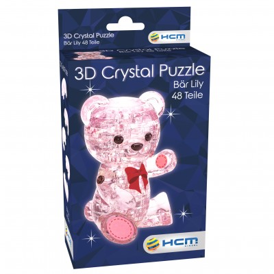 HCM-Kinzel-59192 Crystal Puzzle - Lily Pink Bear