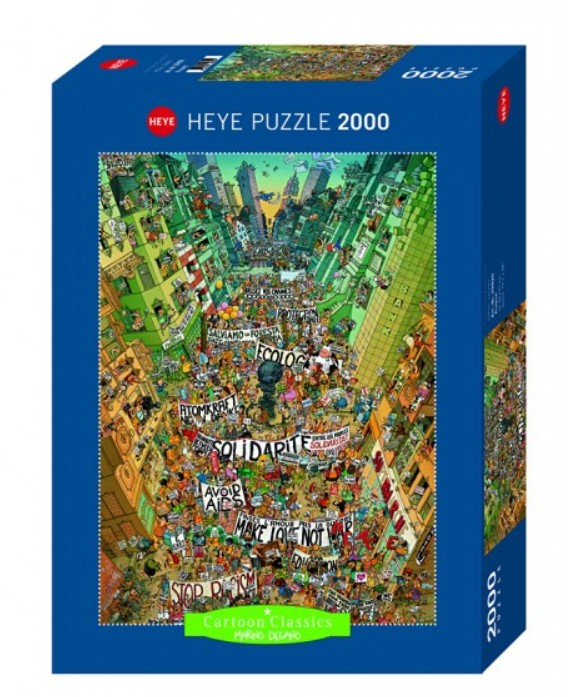 puzzle degano protest heye 29820 2000 pieces jigsaw. Black Bedroom Furniture Sets. Home Design Ideas
