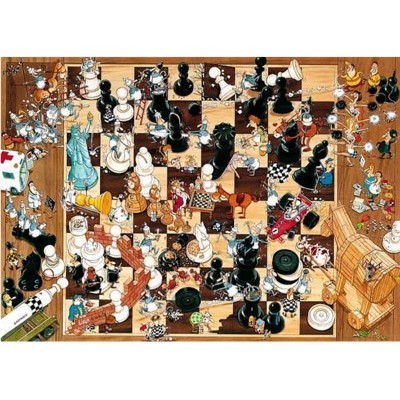 Heye-08793 Jigsaw Puzzle - 1000 Pieces - Degano : Black or White