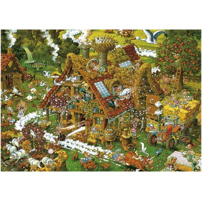 Heye-08832 Jigsaw Puzzle - 1500 Pieces - Ryba : The Funny Farm