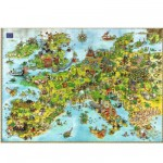 Heye-08854 Jigsaw Puzzle - 4000 Pieces - Degano : Europe