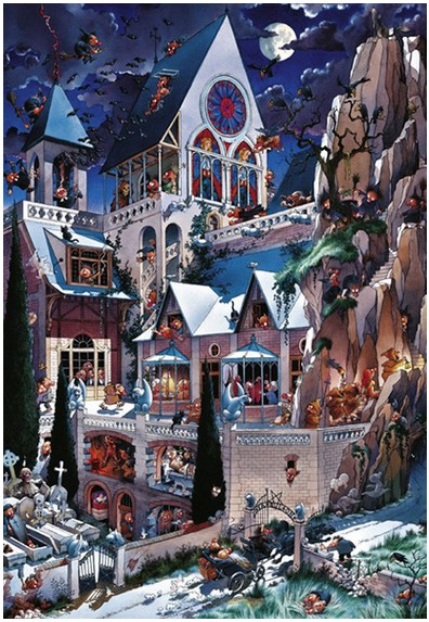 Heye-26127 Jigsaw Puzzle - 2000 Pieces - Wolf : Castle of Horror