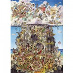 Heye-29118 Jigsaw Puzzle - 1500 Pieces - Prades : Heaven and Hell