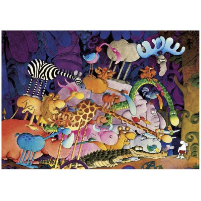 Heye-29213 Jigsaw Puzzle - 1000 Pieces - Mordillo : Tarzan