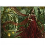 Heye-29272 Jigsaw Puzzle - 3000 Pieces - Cris Ortega, Forgotten : Red