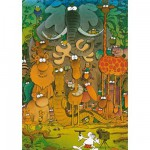 Heye-29284 Jigsaw Puzzle - 1000 Pieces - Mordillo : Cheers !