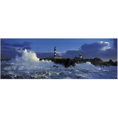 Heye-29286 Jigsaw Puzzle - 1000 Pieces - Panoramic - Jean Guichard : Creach Lighthouse, Brittany, France