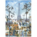 Heye-29358 Jigsaw Puzzle - 1000 Pieces - Loup : The Eiffel Tower