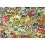Heye-29406 Jigsaw Puzzle - 1000 Pieces - Degano : Dragon City
