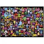 Heye-29416 Jigsaw Puzzle - 2000 Pieces - Burgerman : Hello EVerybody