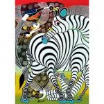 Heye-29425 Jigsaw Puzzle - 1000 Pieces - Tinga tinga : Zebra