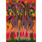 Heye-29426 Jigsaw Puzzle - 1000 Pieces - Tinga tinga : Giraffes