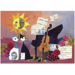 Heye-29449 Jigsaw Puzzle - 1000 Pieces - Rosina Wachtmeister : Cello