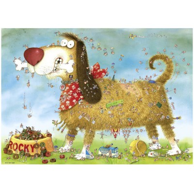 Heye-29491 Jigsaw Puzzle - 1000 Pieces - Degano : A Dog's Life