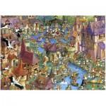 Heye-29496 Jigsaw Puzzle - 1000 Pieces - Ruyer : Bunnytown