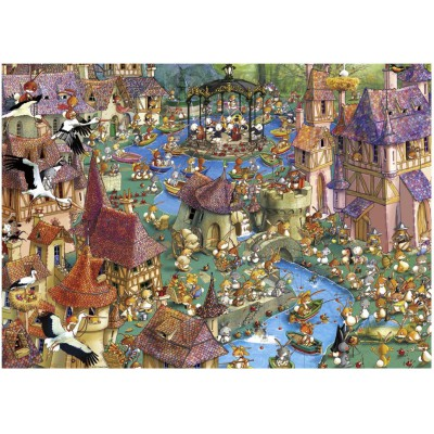 Heye-29496 Jigsaw Puzzle - 1000 Pieces - Ruyer : Bunnytown