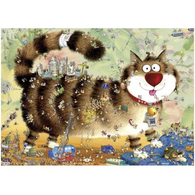 Puzzle Heye-29569 The cat life