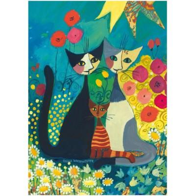 Puzzle Heye-29616 Rosina Wachtmeister: the flowerbed