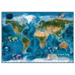 Puzzle  Heye-29797 Satellite Map of the world