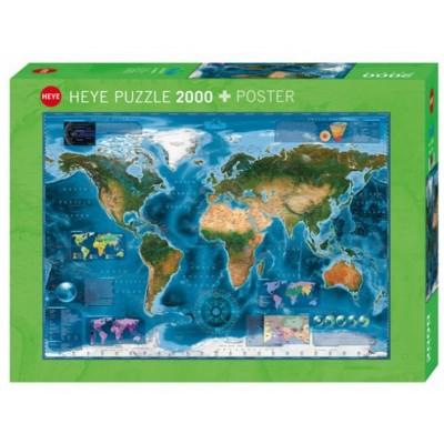 Puzzle Heye-29797 Satellite Map of the world