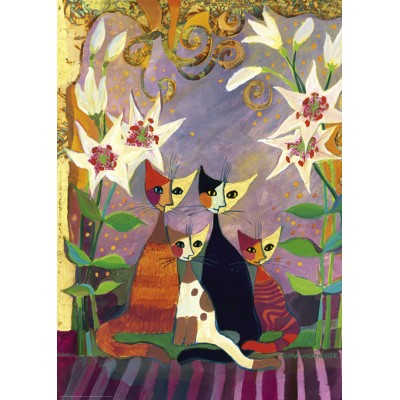 Puzzle Heye-29819 Rosina Wachtmeister - Lilies