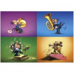 Heye-70168-29501 Jigsaw Puzzle - 150 Pieces - Degano : Musicians