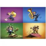 Heye-70168-29501 Jigsaw Puzzle - 150 Pieces - Degano : Musicians
