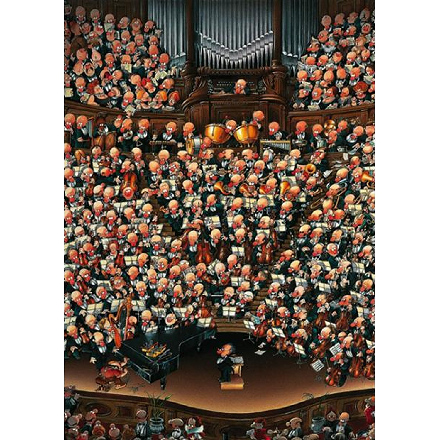 jigsaw puzzle 2000 pieces wolf orchestra heye 08660. Black Bedroom Furniture Sets. Home Design Ideas