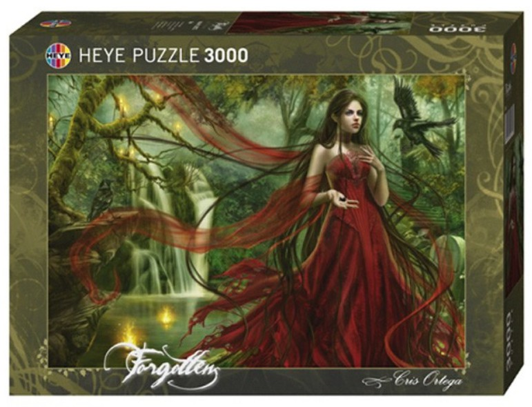 jigsaw puzzle 3000 pieces cris ortega forgotten red. Black Bedroom Furniture Sets. Home Design Ideas