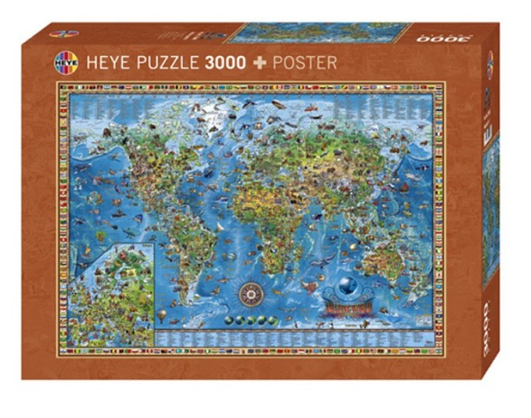 jigsaw puzzle 3000 pieces fantastic world heye 29386 3000 pieces jigsaw puzzles world maps. Black Bedroom Furniture Sets. Home Design Ideas