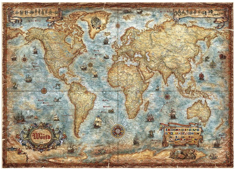 Jigsaw puzzle 3000 pieces world map heye 29275 3000 pieces jigsaw puzzle 3000 pieces world map gumiabroncs Image collections