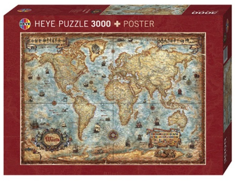 Jigsaw puzzle 3000 pieces world map heye 29275 3000 pieces jigsaw puzzle 3000 pieces world map gumiabroncs Images