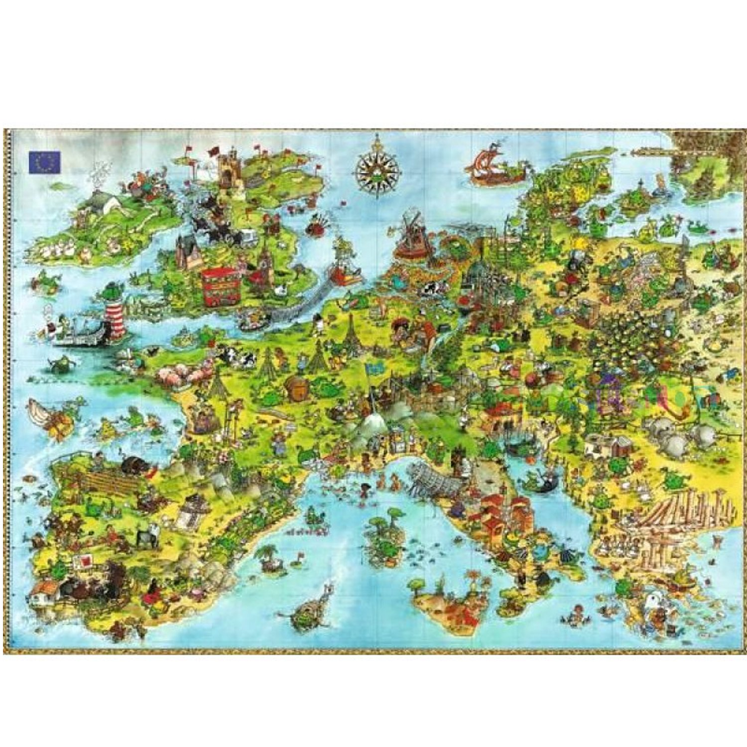 jigsaw puzzle 4000 pieces degano europe heye 08854 4000 pieces jigsaw puzzles world maps. Black Bedroom Furniture Sets. Home Design Ideas