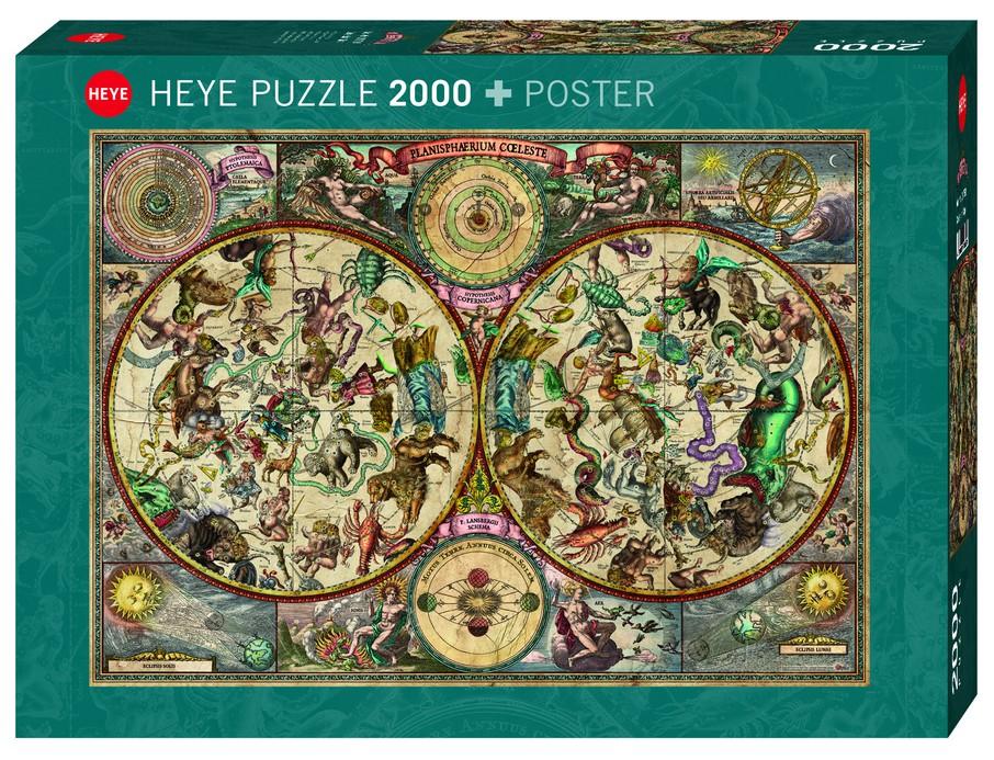 Puzzle Rajko Zigic Celestial Map Heye 29758 2000 Pieces Jigsaw Puzzles World Maps And