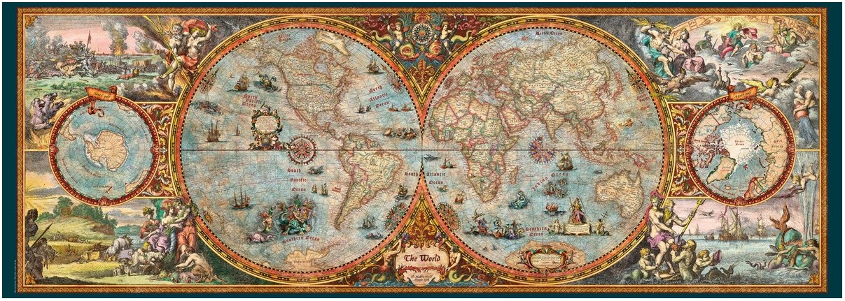 puzzle rajko zigic hemisphere map heye 29615 6000 pieces. Black Bedroom Furniture Sets. Home Design Ideas