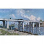 Puzzle  Impronte-Edizioni-080 Claude Monet - The Railroad Bridge at Argenteuil