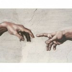 Puzzle  Impronte-Edizioni-084 Michelangelo - The Creation of Adam