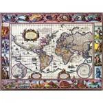 Puzzle  Impronte-Edizioni-247 Illustrated World Map