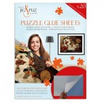 Jig-and-Puz-80008 Puzzle Glue Sheets for 3000 Pieces