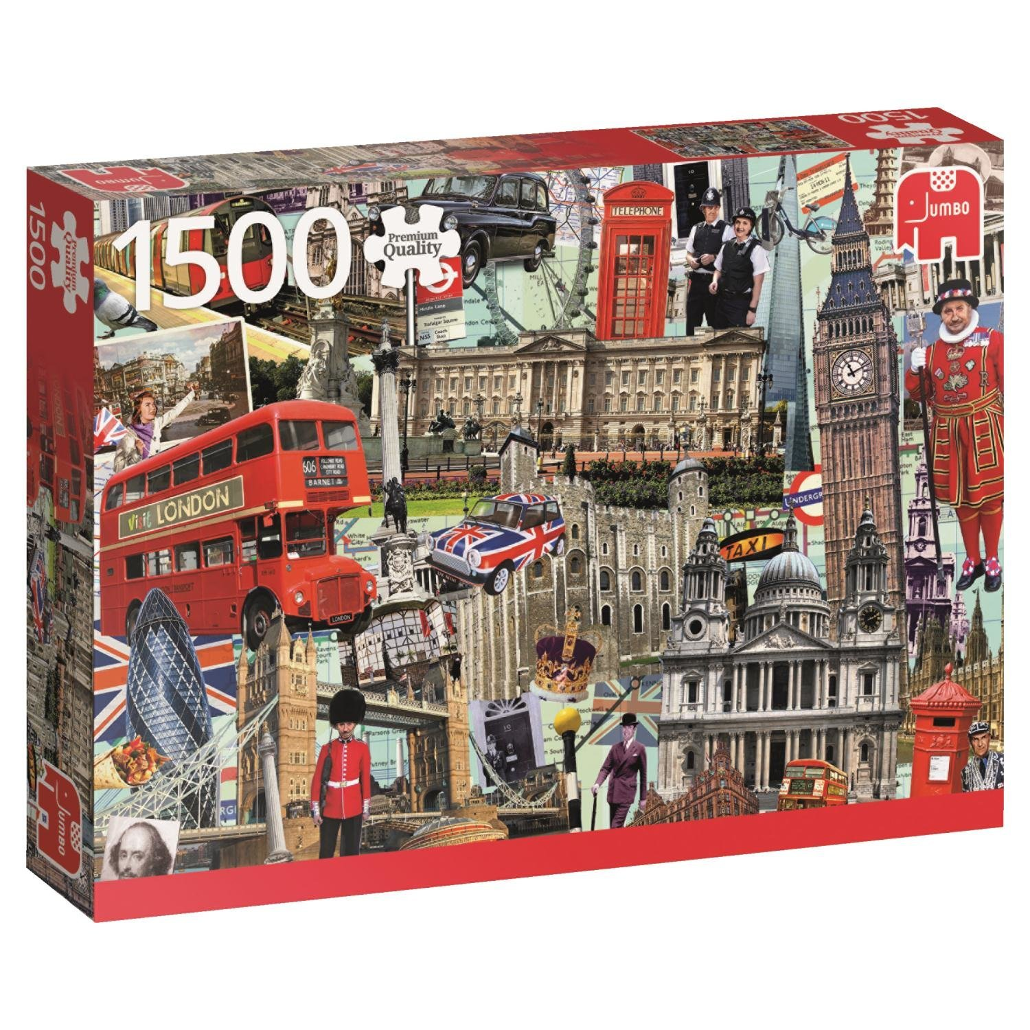 puzzle best of london jumbo 18366 1500 pieces jigsaw. Black Bedroom Furniture Sets. Home Design Ideas