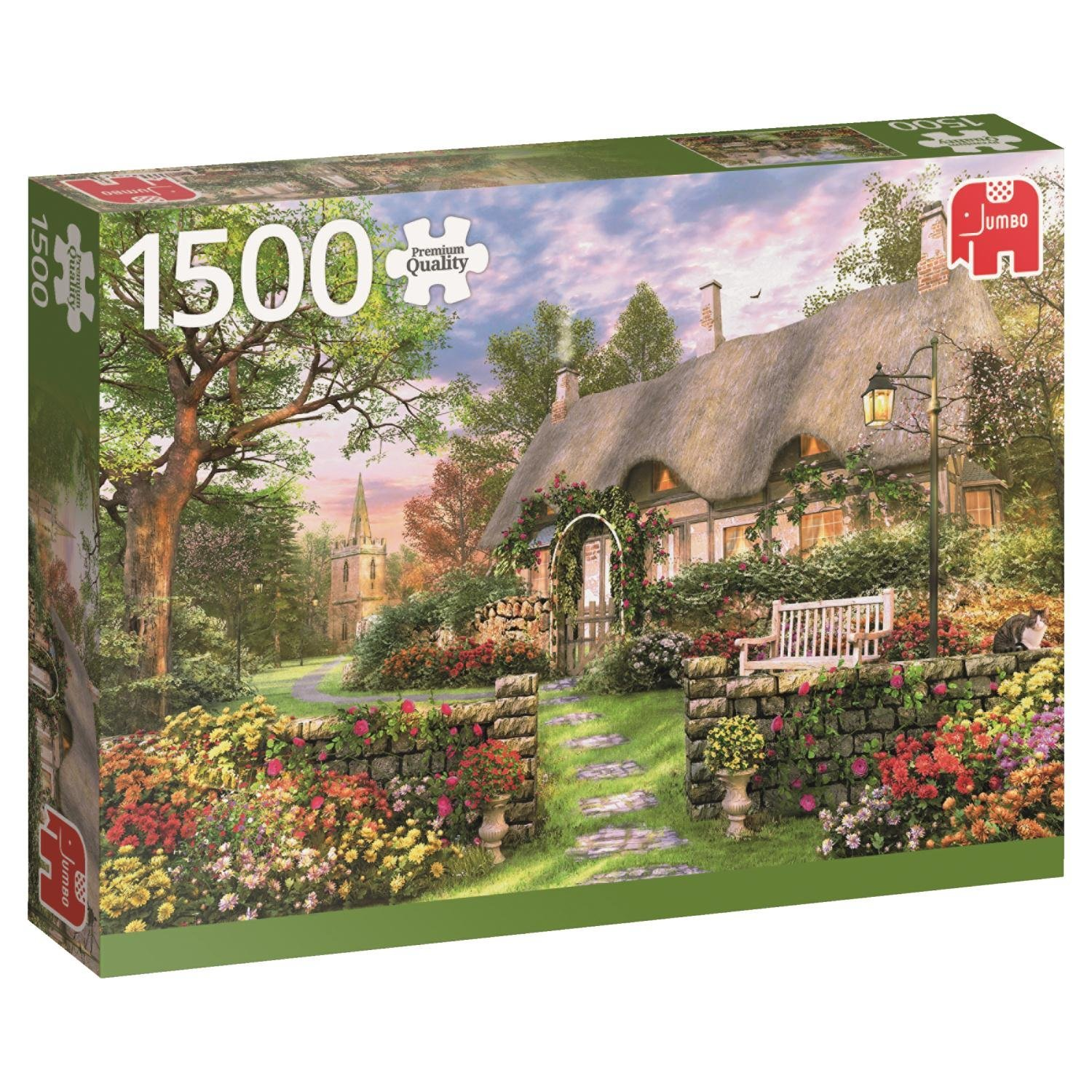 puzzle cottage jumbo 18367 1500 pieces jigsaw puzzles. Black Bedroom Furniture Sets. Home Design Ideas