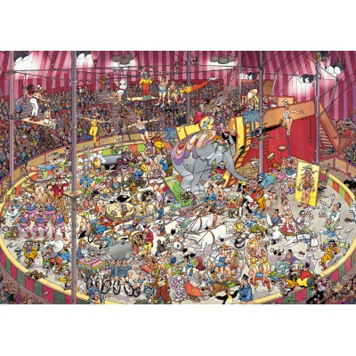 Jumbo-01470 Jigsaw Puzzle - 1000 Pieces - Jan Van Haasteren : At the Circus