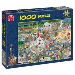 Jumbo-01491 Jigsaw Puzzle - 1000 Pieces - Jan van Haasteren: The Zoo