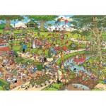 Jumbo-01492 Jigsaw Puzzle - 1000 Pieces - Jan van Haasteren: The Park
