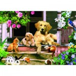 Jumbo-01547 Jigsaw Puzzle - 500 Pieces - Encounter under the Veranda