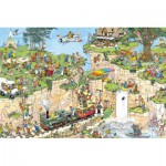 Jumbo-01555 Jigsaw Puzzle - 1500 Pieces - Jan Van Haasteren : The Golf Class